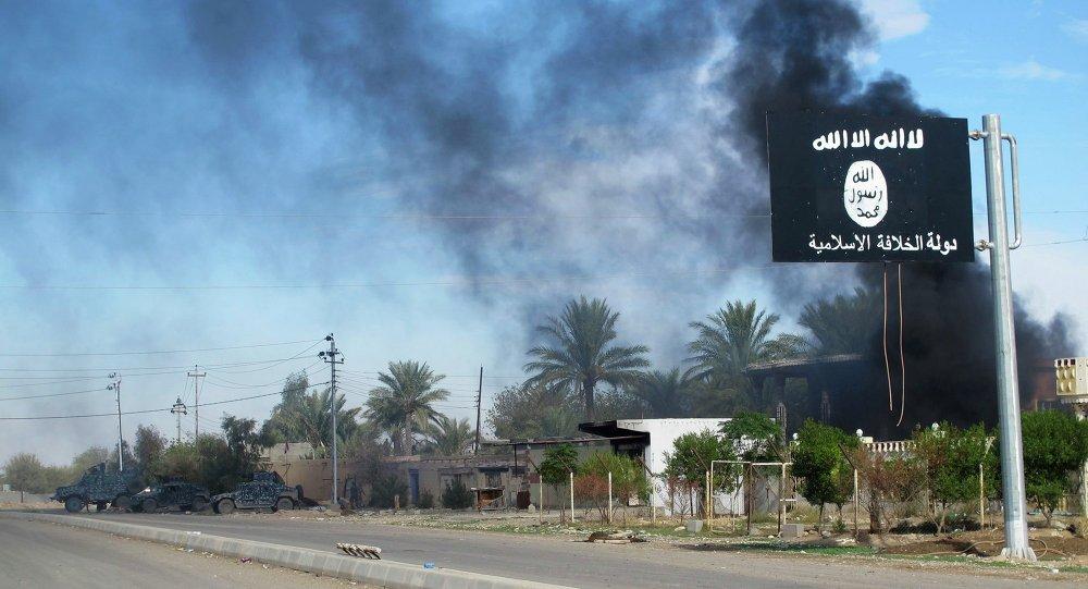 Drapeau de l'Etat islamique dans la province irakienne de Diyala