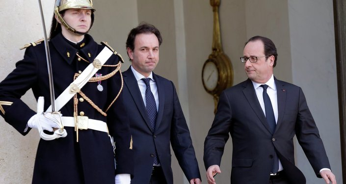 François Hollande et Khaled Khoja, Mar. 5, 2015
