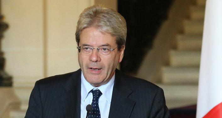 Paolo Gentiloni, ministre des Affaires étrangères de l'Italie