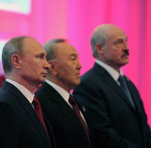 Vladimir Poutine, Noursoultan Nazarbaïev et Alexandre Loukachenko