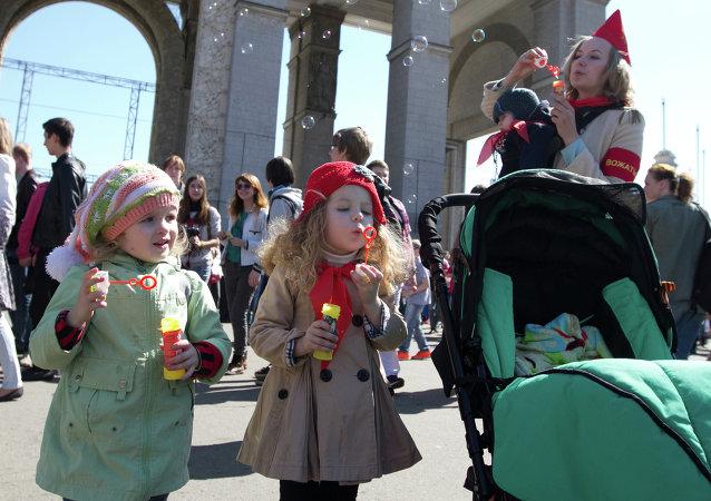 Festival de bulles de savon à Moscou