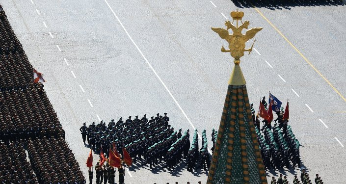 Parade de la Victoire à Moscou. Archive photo