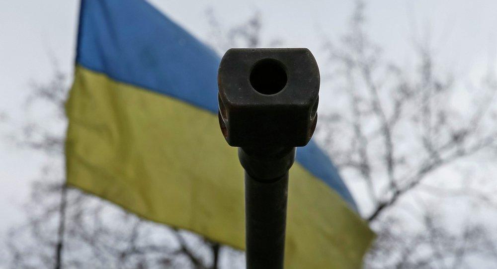 Forces armées ukrainiennes près de Debaltsevo, le 20 février 2015