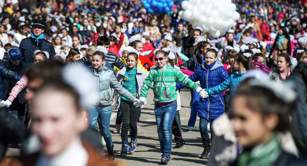 Les Criméens se félicitent de se retrouver au sein de la Russie
