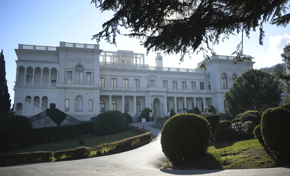 A general view of Livadia palace,  Yalta