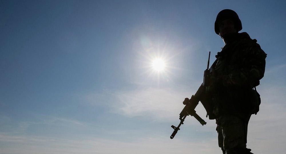 Soldat ukrainien. Photo d'illustration