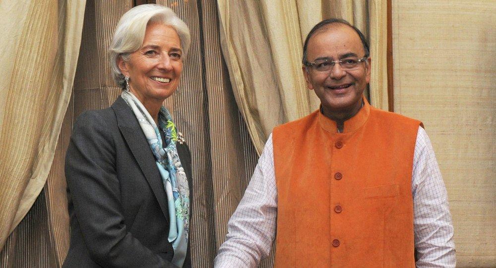 Christine Lagarde et Arun Jaitley, Mar. 16, 2015