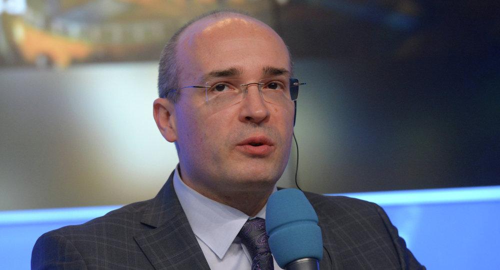 Andreï Kondrachov lors de la conférence de presse dédiée au documentaire Crimée. Retour à la Patrie