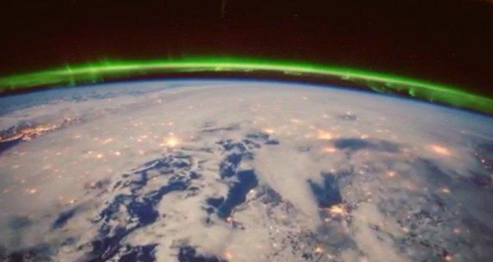 Les aurores boréales observées depuis l'ISS