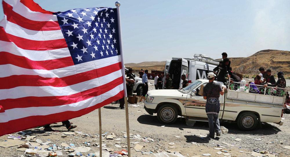 le drapeau us en Syrie