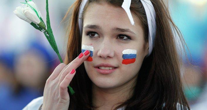 Lors des célébrations de l'anniversaire de la réunification de la Crimée avec la Russie