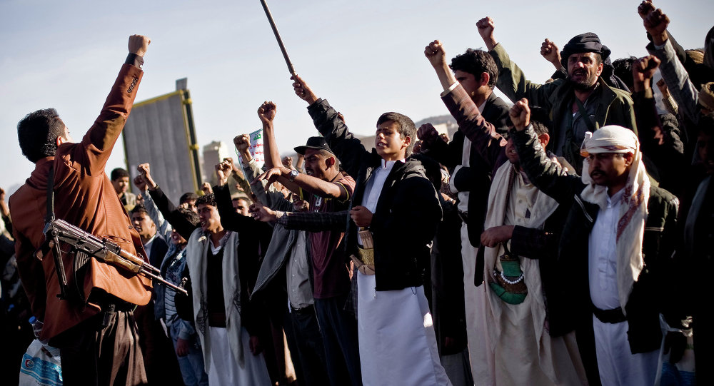 Les Houthis yéménites, Sanaa, Yemen, Jan. 28, 2015