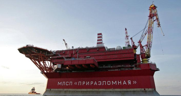 La plateforme Prirazlomnaïa de Gazprom