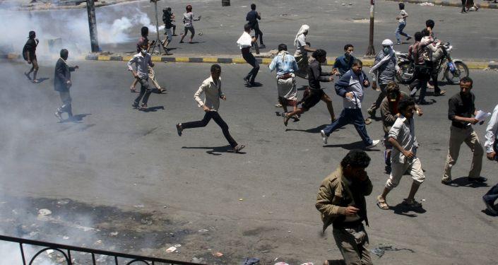 Protestations au Yémen