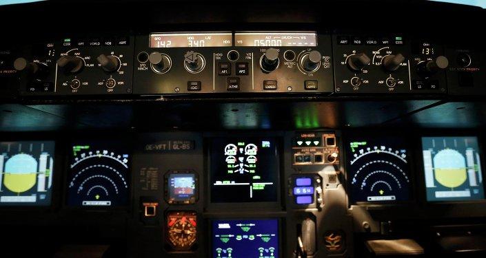 A l'intérieur du simulateur de vol