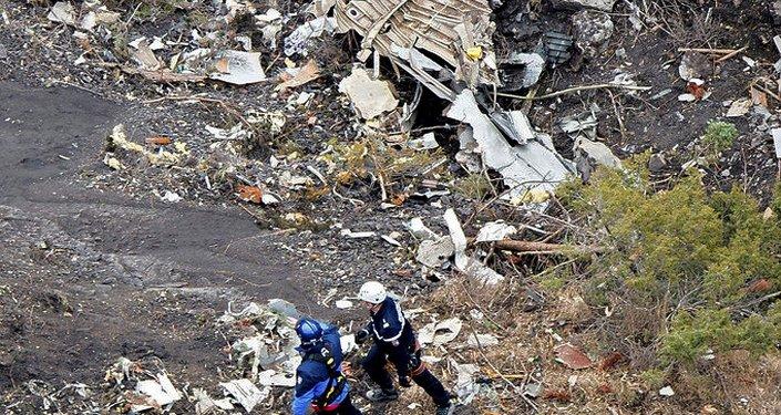 Débris de l'Airbus A320 de Germanwings