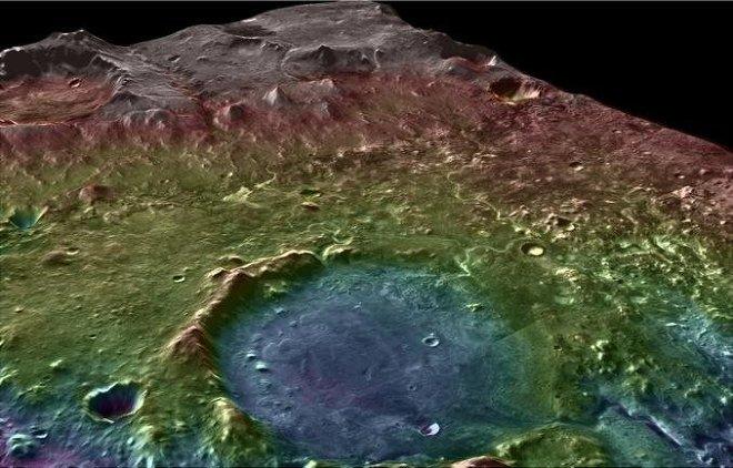 Carte 3D du cratère équatorial Jezero photographié par la sonde MRO
