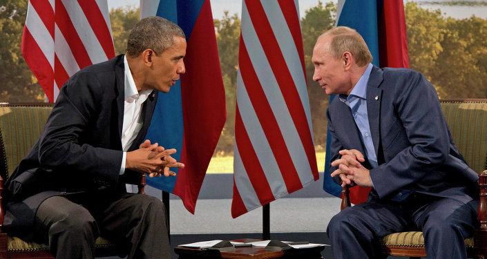 President Vladimir Putin et president Barack Obama