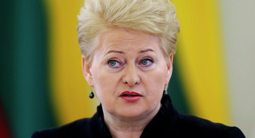 Présidente lituanienne Dalia Grybauskaite