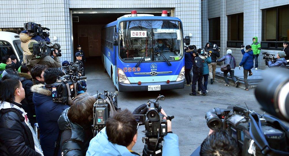 Cho Hyun-Ah arrive au tribunal