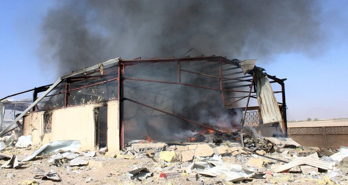 Après un bombarement de Saada