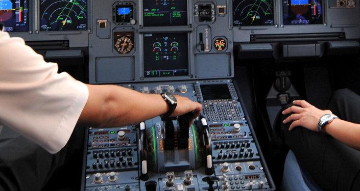 Dans le cockpit d'un avion de ligne