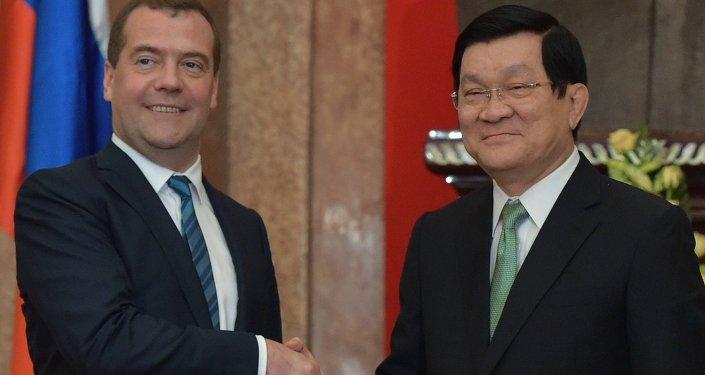 Dmitri Medvedev au Vietnam