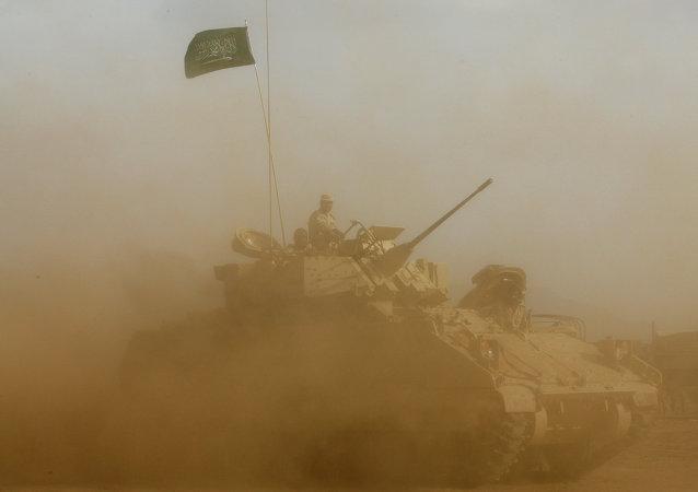 Soldats saoudiens près de la frontière avec le Yémen