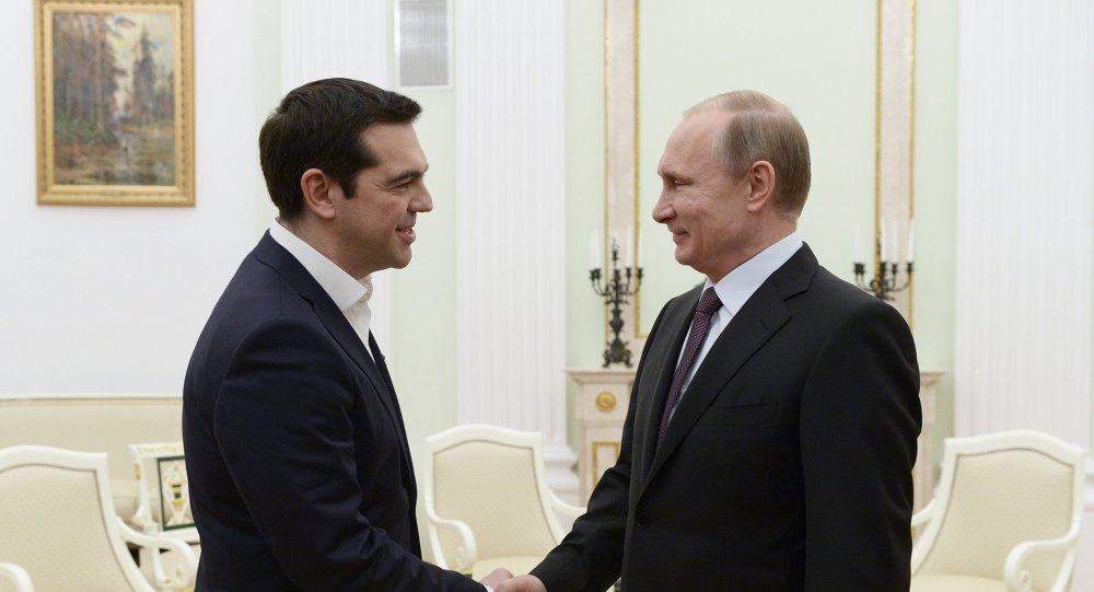 Президент РФ В.Путин встретился с премьер-министром Греции А. Ципрасом