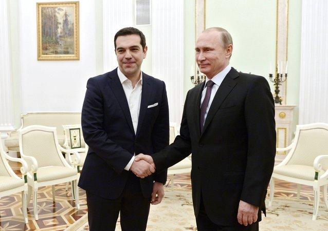 Vladimir Poutin et Alexis Tsipras