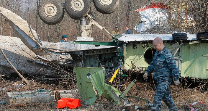 Sur les lieux du crash de Smolensk