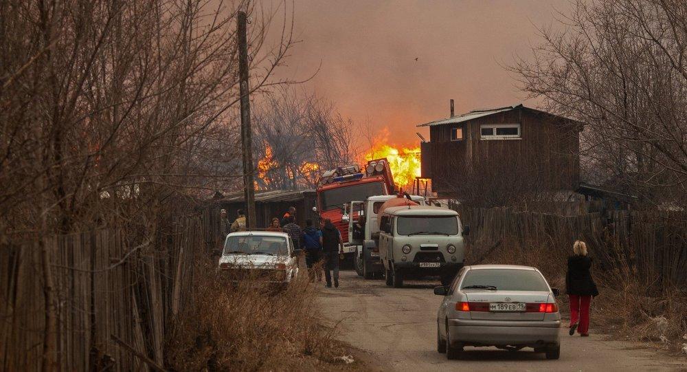 Incendies en Sibérie du Sud