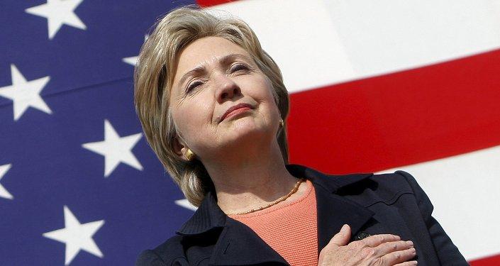 Le sénateur Hillary Clinton, candidate à l'investiture démocrate