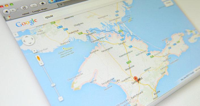 La Crimée sur Google Maps