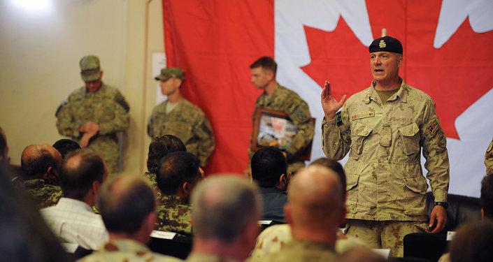 Militaires canadiens. Archive photo