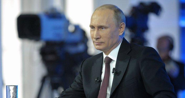 Séance de questions-réponses entre Vladimir Poutine et la population.