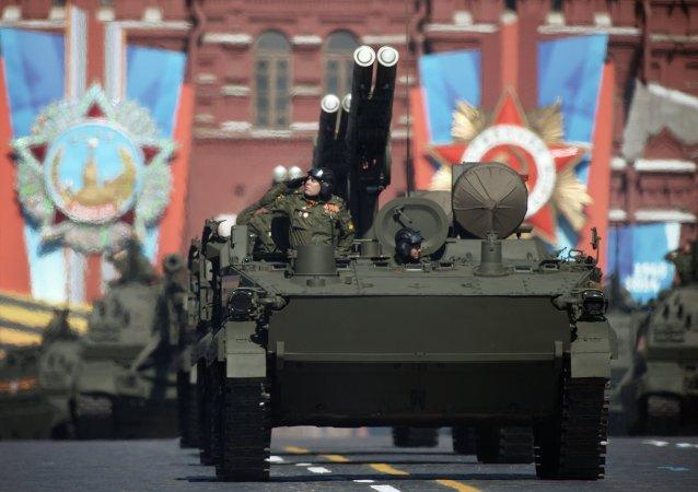 Défilé de la Victoire sur la place Rouge à Moscou (archives)