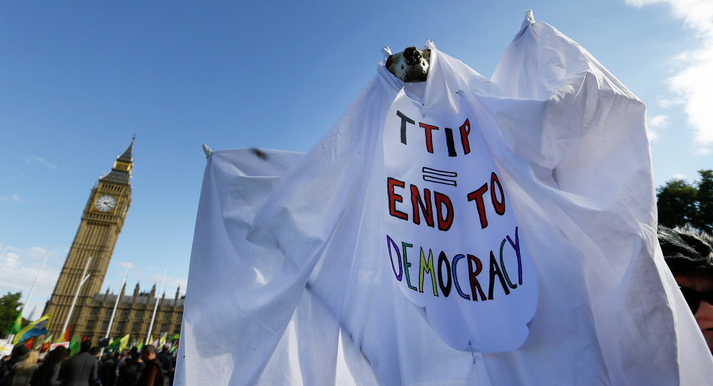 Manifestation anti-TTIP à Londres