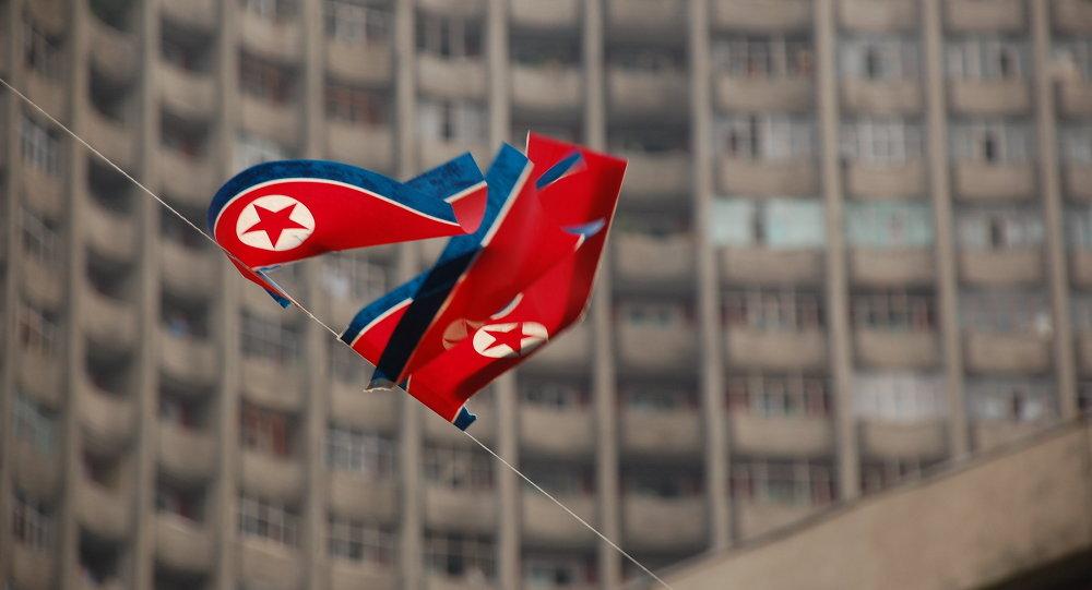 Le drapeau de la Corée du Nord