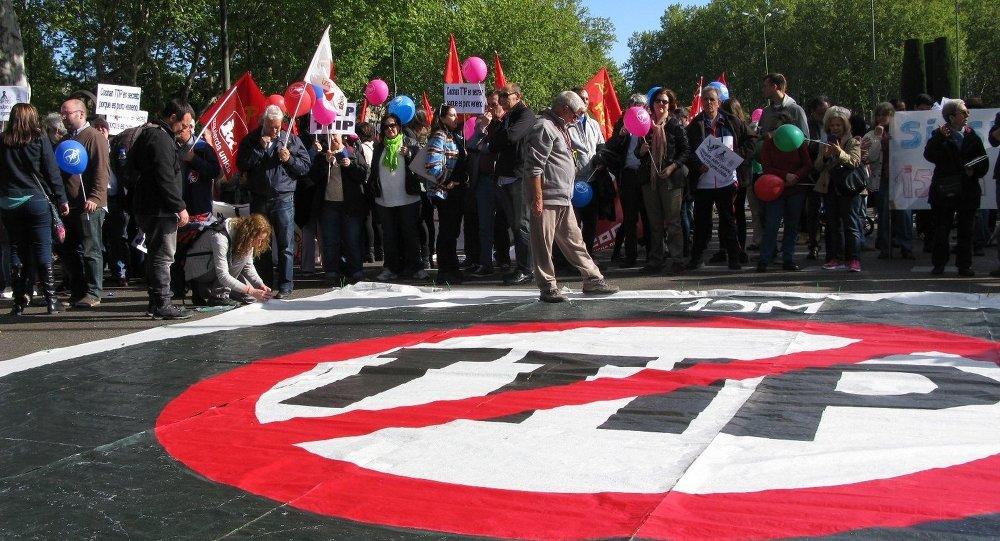 Protestation contre le TTIP