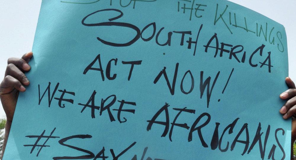Protestations contre les violences anti-immigrés