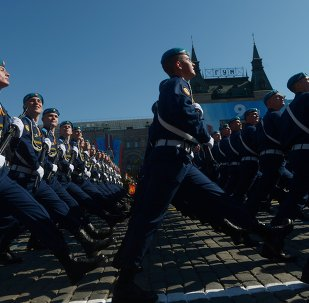 Défilé de la Victoire : répétition nocturne sur la Place rouge