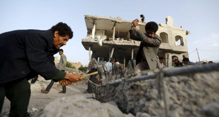 Conséquences des frappes aériennes de la coalition arabo-sunnite