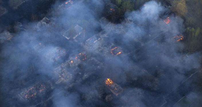 Incendie de forêt en Ukraine