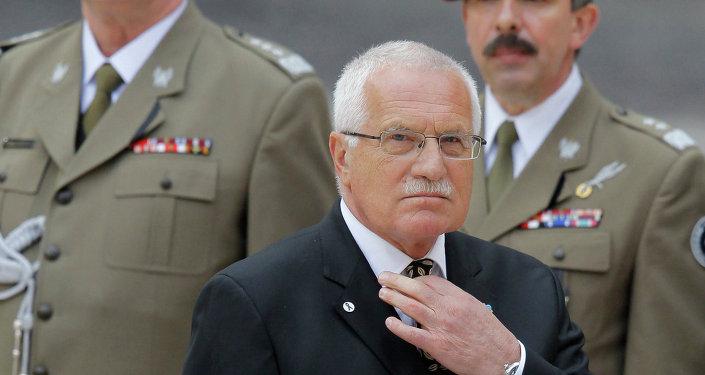 Ex-président tchèque Vaclav Klaus. Archive photo