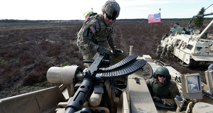 L'équipage d'un char américain Abrams