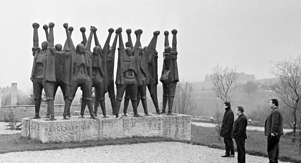 Monument aux victimes du nazisme sur le site de l'ancien camp de concentration Mauthausen