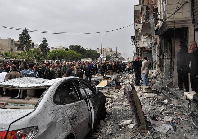 Homs, Syrie, Avr. 10, 2015