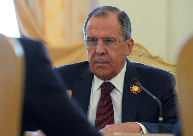 Chef de la diplomatie russe Sergueï Lavrov