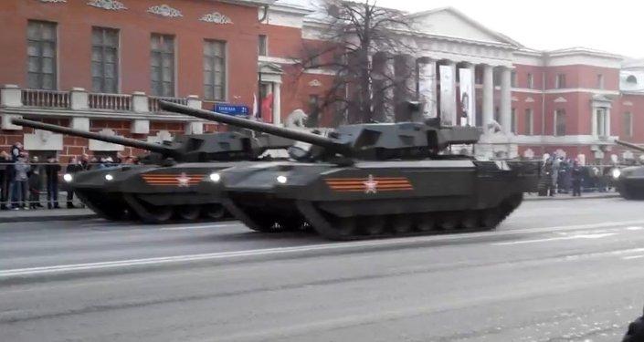Le char russe dernier cri Armata dévoilé au grand public